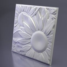 Form for gypsum tiles SUNFLOWER is made as a separate panel, it does not fit together. On the perimeter of the tile a field is made, which joins with the neighboring tile. The mold is also made of ABS plastic 1.5 mm thick. Grease when pouring is required. Designed to work with gypsum Panel Moulding, Wall Molding, Concrete Molds, Concrete Wall, Gypse, Stepping Stone Molds, Decorative Wall Panels, 3d Wall Panels, Plastic Molds