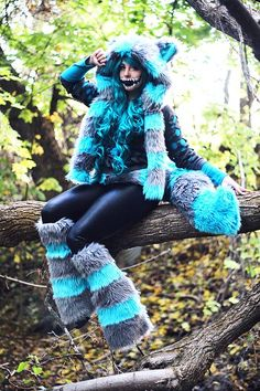 Cheshire Cat Cosplay, Cheshire Cat Halloween, Costume Chat, Cat Costumes, Costume Ideas, Diy Outfits, Costume Catwoman, Cat Alice, Chesire Cat