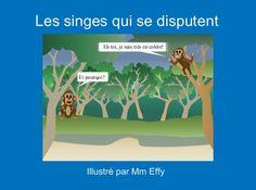 "StoryJumper book - ""Les singes qui se disputent""."