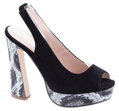 Sandale platforma - Sandale negre cu platforma MG118-2N - Zibra Peeps, Peep Toe, Shoes, Fashion, Moda, Zapatos, Shoes Outlet, Fashion Styles, Shoe