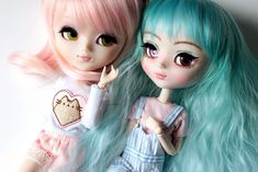Pullip My Melody & Pullip MIO-kit Olive (makeup by me) My Melody, Kitty, Dolls, Makeup, Kitten, Make Up, Kitty Cats, Puppet, Doll