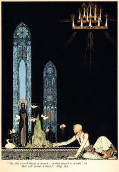 Norwegian folk tale fairy tale The Giant Who Had No Heart In His Body Kay Nielsen vintage art nouveau print illustration inches Kay Nielsen, Art And Illustration, Fairy Tale Illustrations, Vintage Illustrations, Botanical Illustration, Inspiration Art, Art Inspo, Fantasy Kunst, Fantasy Art