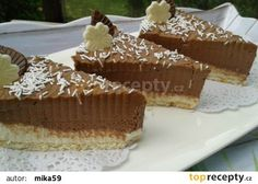 Nepečené čokoládové řezy s tvarohem recept - TopRecepty.cz