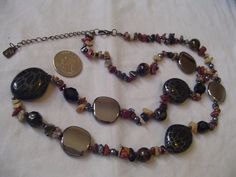 Gorgeous Signed Wear any/every day China, Semi-Precious Stones Necklace. WOW!