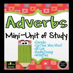 Elementary students enjoy learning adverbs in this hands-on Adverbs Mini Unit! Grammar Practice, Grammar Skills, Adverb Activities, Adverbs Worksheet, Parts Of Speech, Reading Workshop, Reading Resources, Student Learning, The Unit