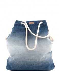 Tkaninowa torebka basic z jeansu  - me
