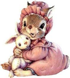 Rabbit with teddybear