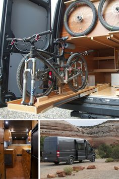A converted Sprinter van becomes a home for mountain bikers (even has a gas cooktop!).