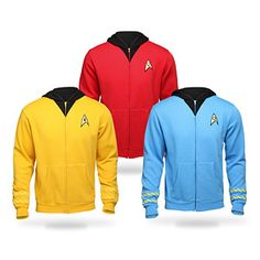 ThinkGeek :: Star Trek The Original Series Uniform Hoodie
