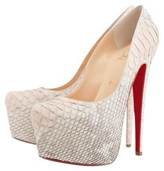b91a93e853 Christian Louboutin Daffodile 160 Python Degrade Pumps White Platforms. Get  the must-have platforms