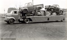 Secure Auto Shipping Inc Here is how we Transport. #LGMSports haul it with http://LGMSports.com 1948 Ford's on a Ford Coe car carrier