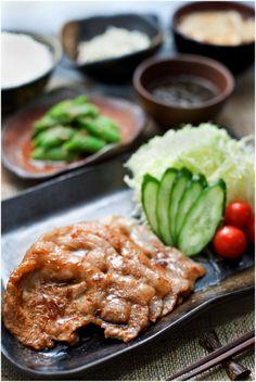 Japanese food / 豚の生姜焼き定食