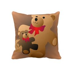 Teddy Bear Pillow  Click on photo to purchase. Check out all current coupon offers and save! http://www.zazzle.com/coupons?rf=238785193994622463&tc=pin