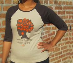 Natural Hair Shirt  happy to be nappy quarter length by 7evolution, $23.99