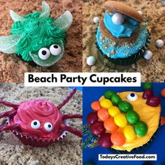These are adorable cupcakes to make for a pool, beach, luau party. But just a few items you can pick up at your local grocery store you can make these adorable cupcakes. Get all the details on our blog at todayscreativeFood.com