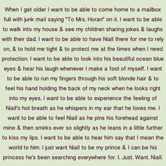 # IMAGINE this is really cute for all of you Niall girls :) WARNING: MAJOR FEELS. (I'm a Niall girl, I would know)