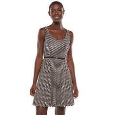 LC Lauren Conrad Print Fit & Flare Dress - Women's