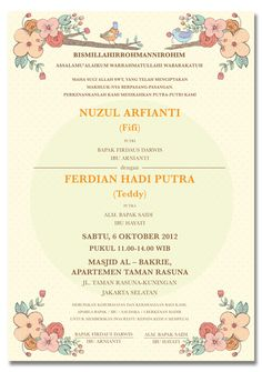 Konsep undangan pernikahan indonesia a wedding invitation anggia this is a wedding invitation for my officemate fifi stopboris Image collections