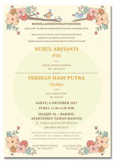 Konsep Undangan Pernikahan Indonesia - Fifi & Teddy Wedding Invitation