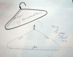 Karen mom of three's craft blog: Make your own wire doll hangers!
