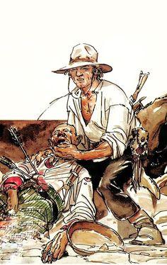 Comic Book Layout, Comic Books, Ken Parker, Cowboy Art, Le Far West, Airsoft, Westerns, Sketches, Action
