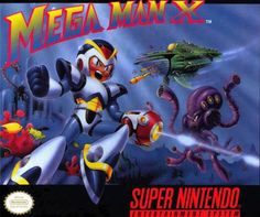 mega man x snes box art - Google Search
