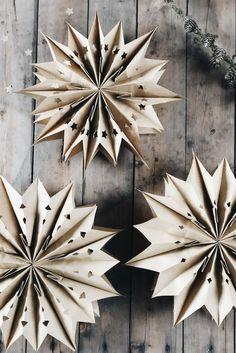 Gift Ribbon, Star Diy, Paper Stars, Xmas, Christmas, Diy Tutorial, Centerpieces, Diy Projects, Crafty