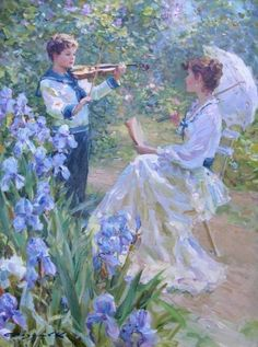 By Konstantin Razumov a Russian painter who has impressed art collectors with his impressionist paintings. Bel Art, Types Of Painting, Classical Art, Renaissance Art, Renaissance Paintings, Fine Art, Pretty Art, Aesthetic Art, Beautiful Paintings
