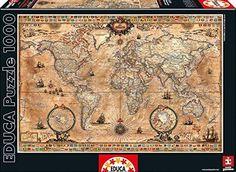 Educa 15159 - Puzzle - Historische Weltkarte, 1000-Teilig (EAN 0885598302756)
