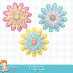 Free Digital Scrapbooking, Free Items, Diy Wall, Spring Flowers, Free Printables, Vectors, Creations, Clip Art, Crafts