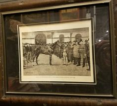 """Framed print of """"auction sale at the American Horse Exchange, NY"""", $55.  Gaslamp Antiques Too, booth T196."""