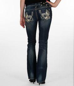 Miss Me Applique Boot Stretch Jean