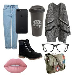 """""""Student #1"""" by sabiheja on Polyvore featuring Topshop, Burberry, The Created Co., Marvel, Timberland and Lime Crime"""