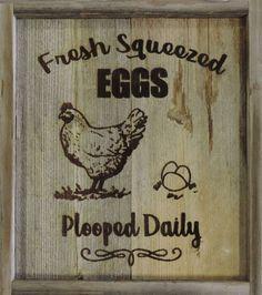 NEW FARMHOUSE FREE RANGE RUSTIC RECLAIMED BARNWOOD FRESH EGGS CHICKEN SIGN DECOR #Handmade #Farmhouse