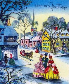 Vintage season's greetings. #vintage #Christmas #cards