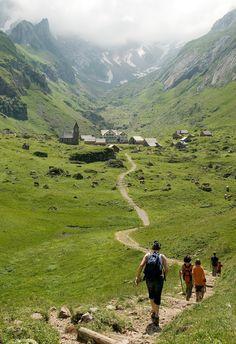 Hiking to [Village] Meglisalp, Switzerland. A surreal summer-only village high in the Alpstein.