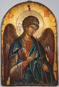 Archangel Michael - 14th c. Hilandar Hand-Painted Icon