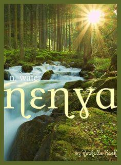 Baby Girl Name: Nenya. Meaning: Water. Origin: J.R.R.Tolkien's Quenya Elvish. http://www.pinterest.com/vintagedaydream/baby-names/