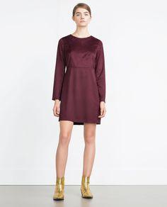 FAUX SUEDE DRESS-Dresses-TRF | ZARA Romania