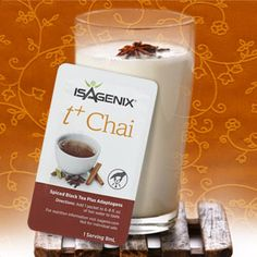 a New Vanilla Chai IsaLean Pro Shake Recipe. Looking for a tasty pre- or post-workout pick-me-up? Fuel your next fitness regimen with this new Natural Vanilla Chai IsaLean® Pro Shake recipe! Submitted by Teresa H, this ice-cold meal-replacement shake is a Vanilla Chai, Vanilla Flavoring, French Vanilla, Isagenix Snacks, Nutritional Cleansing, Protein Shake Recipes, Meal Replacement Shakes, Workout Regimen, Cold Meals