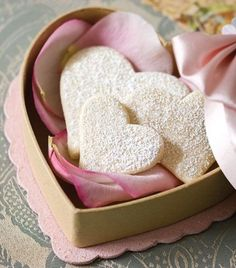 Boxed Heart-Shaped Cookies ~ For Valentine's Day