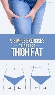 9 Simple & Best Exercises To Reduce Thigh Fat Fast At Home ! 9 Simple exercises to reduce thigh fat Fitness Workouts, Easy Workouts, At Home Workouts, Fitness Tips, Fitness Motivation, Health Fitness, Workout Routines, Easy Fitness, Gym Routine