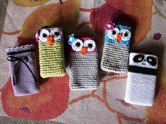Virkkausta ja värkkäystä: Virkattu kännykkäkotelo Yarn Bombing, Textile Fabrics, Creative Kids, Fingerless Gloves, Arm Warmers, Knit Crochet, Arts And Crafts, Stitch, Knitting