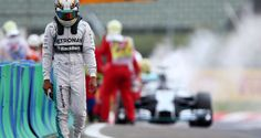 Lewis Hamilton's hopes of Hungarian GP win go up in smoke after car catches fire