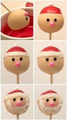 The most adorable Christmas cake pops EVER! How to Make Easy Santa Cake Pops Step-By-Step