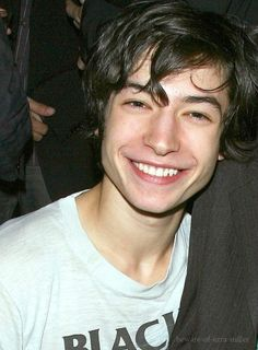 Ezra Miller. Handsome smile.
