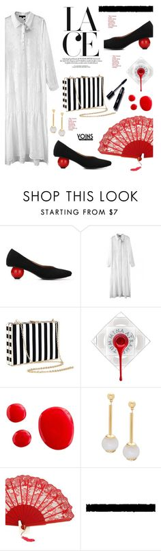 """""""Yoins.com: Lace"""" by hamaly ❤ liked on Polyvore featuring shoes, ootd, dresses, bags and yoins"""