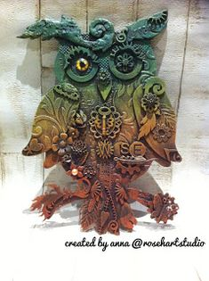 Rosehart Studio : It's owl about the mixed media!