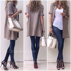 Marni leather coat, HelmutLang tank, RagBone denim/suede pants, Lanvin necklace, Hermés 'Himalaya' Birkin30 and Louboutin 'Laurence Anyway' 100mm shoes