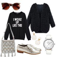 Dias frios con estilo. ¿que tal si combinas el blanco y el negro para tu outfit?